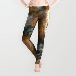 Bison Oil Painting Leggings