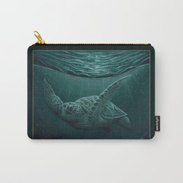 """""""Eclipse"""" by Amber Marine - Sea Turtle, Acrylic Painting, (Copyright 2015) Carry-All Pouch"""