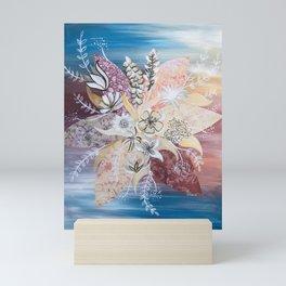 Abstract Fall Flowers Mini Art Print