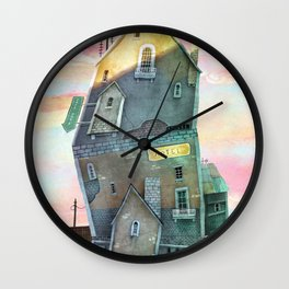 quirky house Wall Clock