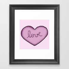 Love in your heart. Framed Art Print