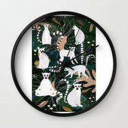 Lemur Jungle Wall Clock