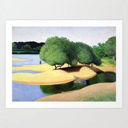 Sandbanks on the Loire river pastoral landscape painting by Felix Vallotton Art Print