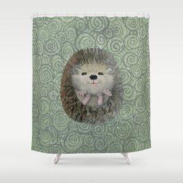 Cute Baby Hedgehog Shower Curtain