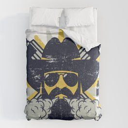 Cloud Chaser - Vaping Bearded Man Comforters