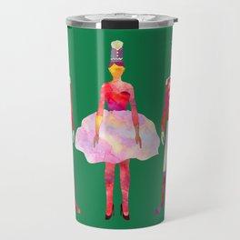 Nutcracker Ballet - Candy Cane Green Travel Mug