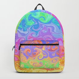 Swirly Rainbow Pattern Backpack
