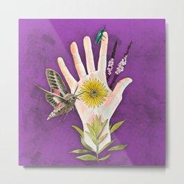 Prairie Hand 2 (Purple) Metal Print