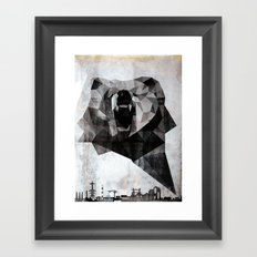 Urban Bear Framed Art Print