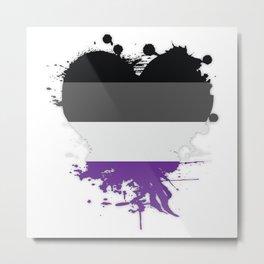 Asexual Heart Metal Print