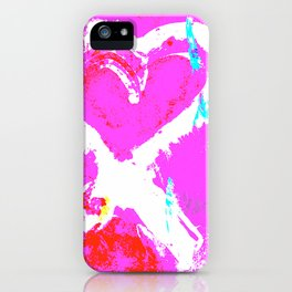 Pink Graffiti Ribbon for Breast Cancer Research by Jeffrey G. Rosenberg iPhone Case