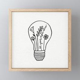 Let Your Light(bulb) Shine Framed Mini Art Print