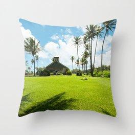 Lanakila 'ihi'ihi O Iehowa O Na Kaua Church Keanae Maui Hawaii Throw Pillow