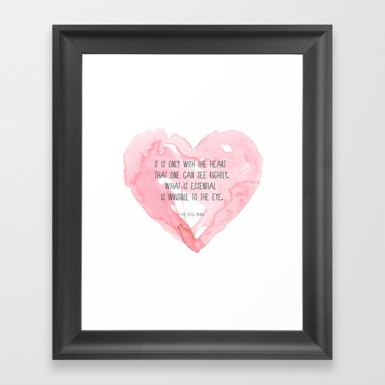 It is only with the heart Framed Art Print