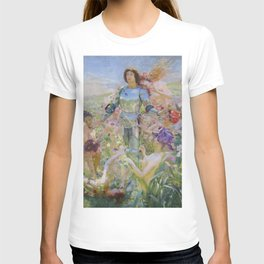 Lord and Goddesses of the Flowers floral magical realism landscape painting Georges Rochegrosse T-shirt