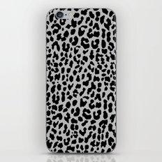 Neon Gray Leopard iPhone & iPod Skin