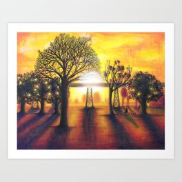 Prelude to Dusk {painting} Art Print