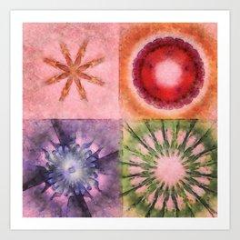 Homologist Layout Flowers  ID:16165-145206-08810 Art Print