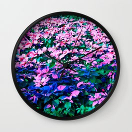 A Christmas Flower Wall Clock