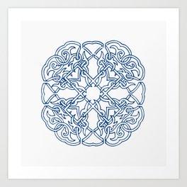 Chinese knot Pattern Art Print