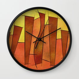 Siangonissa V1 - falling leaves Wall Clock
