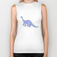 dinosaurs Biker Tanks featuring Dinosaurs by Mora