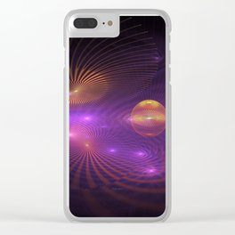 Many Worlds Away Clear iPhone Case