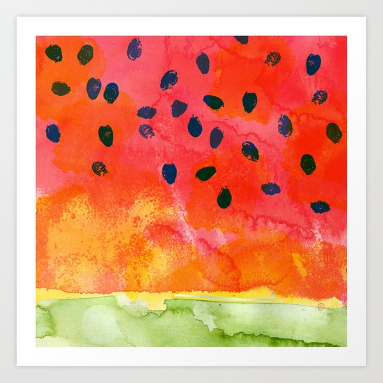 Abstract Watermelon  Art Print