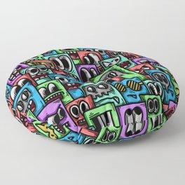Box Monsters Doodle Floor Pillow