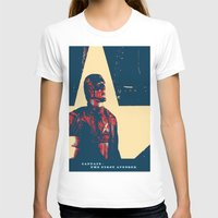 avenger T-shirts featuring Captain - the First Avenger by Glesga Geek