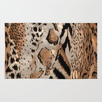 safari Area & Throw Rugs featuring Safari by Colorful Art