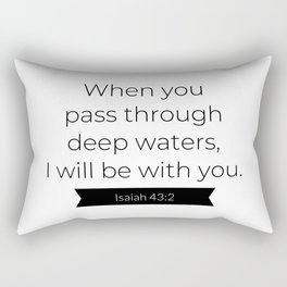 I Will Be With You - Christian Typography Rectangular Pillow