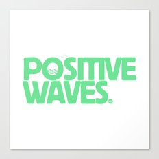 Positive Waves (Green) Canvas Print