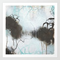 Into the Storm - Square Abstract Expressionism Art Print
