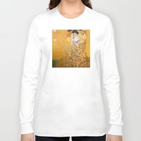 gustav klimt Long Sleeve T-shirts featuring Gustav Klimt - The Woman in Gold by Elegant Chaos Gallery