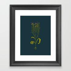 Gothic Botanical Framed Art Print