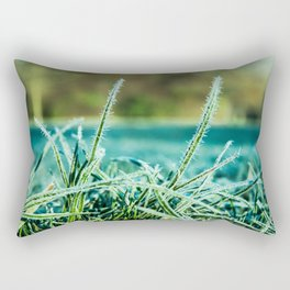 on a cold and sunny morning Rectangular Pillow