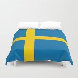 National flag of Sweden Duvet Cover