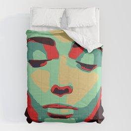 Close 2 U II popart face woman minimalism drawing modern Comforters