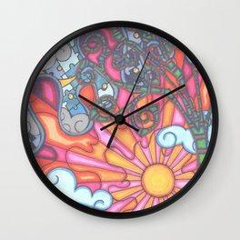 puzzled night Wall Clock