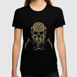 Death Mask Skull with Sense Death Metal T-shirt