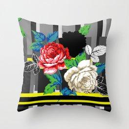 Chintz Rose Throw Pillow