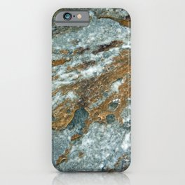 Earthy Blue and Gold Rock iPhone Case