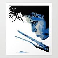 edward scissorhands Art Prints featuring Edward Scissorhands by OnaVonVerdoux