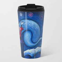 Starry Night Over The Magic Kingdom Travel Mug