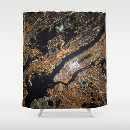 New York From Above Shower Curtain