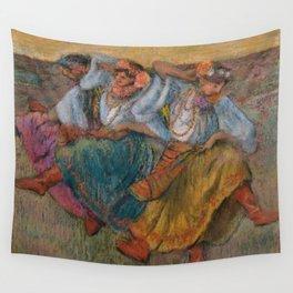 """Edgar Degas """"Russian dancers"""" Wall Tapestry"""