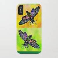goth iPhone & iPod Cases featuring Goth Moth by Jan4insight