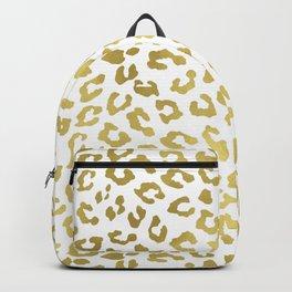 Glam Gold Cheetah Animal Print Backpack