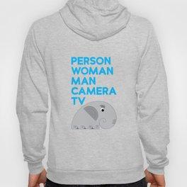 Person Woman Man Camera TV Elephant - Mental Acuity Apparel T-Shirt Hoody